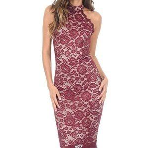 NWT AX Paris Cut In Lace Dress